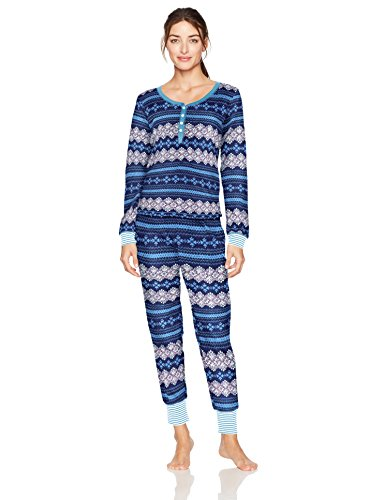 Tommy Hilfiger Women's Plus Size Long Sleeve Thermal Pajama Set Pj, Bob Ross Fairisle, 3X