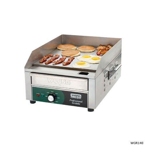 waring commercial wgr140 120 volt electric countertop griddle 14 inch - Waring Commercial WGR140 120-volt Electric Countertop Griddle, 14-Inch