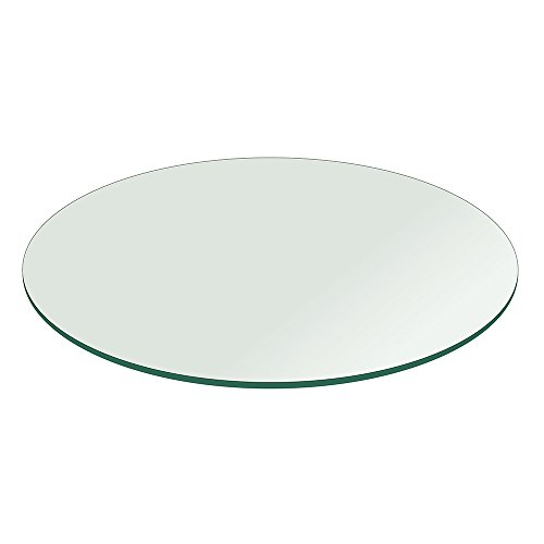 """fab glass and mirror table top 12 thick flat polished tempered round 60 l - Fab Glass and Mirror Table Top 1/2"""" Thick Flat Polished Tempered, Round, 60"""" L"""