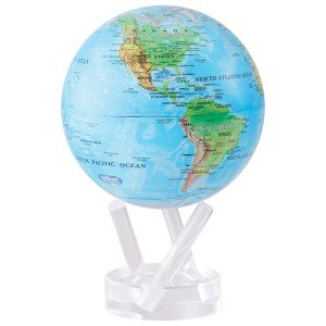 "6 blue with relief map mova globe - 6"" Blue with Relief Map MOVA Globe"