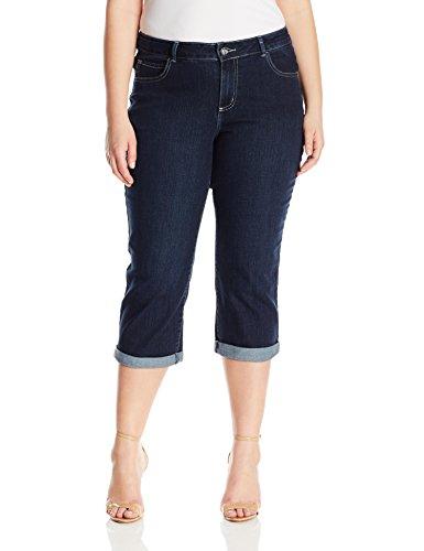 LEE Women's Plus-Size Midrise Series Violet Capri Jean, Donte, 20W Medium