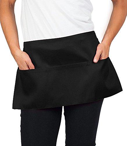 kng black waist apron 11 inch 84 pack - KNG Black Waist Apron, 11 inch, 84 Pack