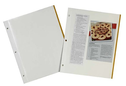 meadowsweet kitchens self adhesive magnetic pages for recipe clippings for 3 - Meadowsweet Kitchens Self-Adhesive Magnetic Pages for Recipe Clippings for 3 ring binders