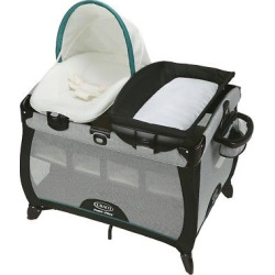 graco quick connect with portable napper playard darcie - Graco Quick Connect with Portable Napper Playard - Darcie