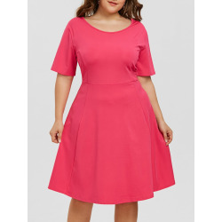 Plus Size Scoop Neck Dress