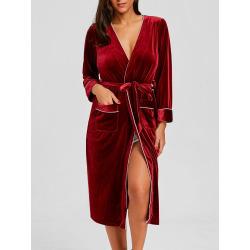 Velvet Long Robe