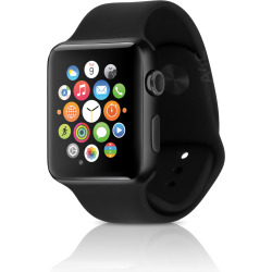 apple watch series 2 w 38mm space black stainless steel case sport band  - Apple Watch Series 2 w/ 38mm Space Black Stainless Steel Case & Sport Band - Black (Refurbished)