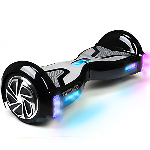 """tomoloo hoverboard with app and led lights two wheel bluetooth self balancing - TOMOLOO Hoverboard with App and LED Lights Two-wheel Bluetooth Self Balancing Scooter with UL2272 Certified, 6.5"""" Wheel Electric Scooter for Kids and Adult"""