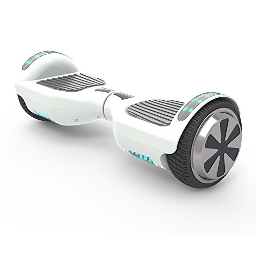 "hoverboard 65 ul 2272 listed two wheel self balancing electric scooter with - Hoverboard 6.5"" UL 2272 Listed Two-Wheel Self Balancing Electric Scooter with Top LED Light And Bluetooth Speaker (Whte)"
