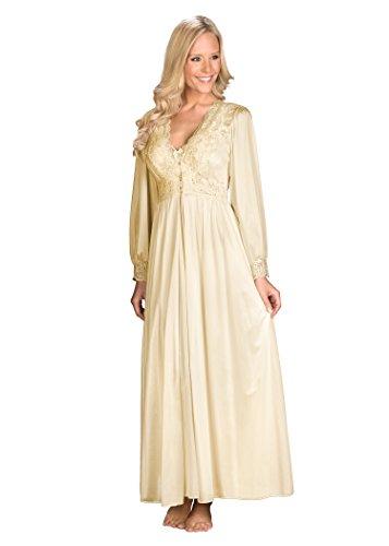 Shadowline Women's Plus-Size Silhouette 54 Inch Long Sleeve Coat, Ivory, 3X