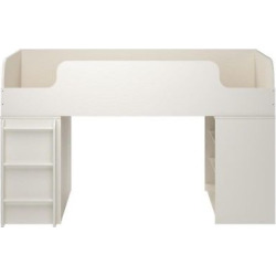 elements loft kids twin bed with 2 bookcases white cosco - Elements Loft Kids Twin Bed with 2 Bookcases - White - Cosco