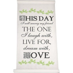 Multi Color This Day Wedding Aisle Runner, White