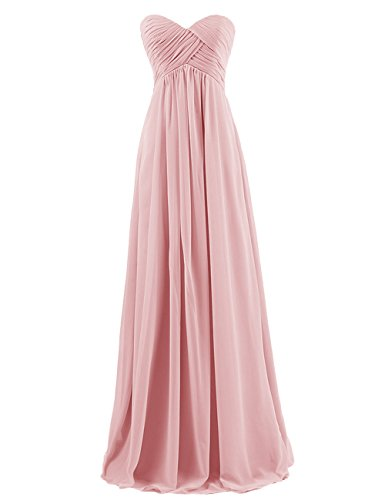Dresstells Sweetheart Bridesmaid Chiffon Prom Dresses Long Evening Gowns Blush Size 20W