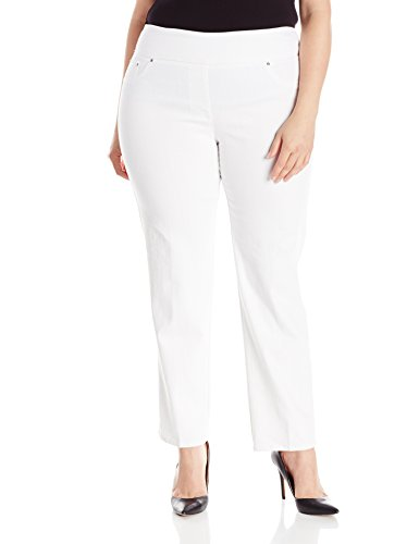 Ruby Rd. Women's Plus-Size Pull-On Extra Stretch Denim Jean, White, 16W