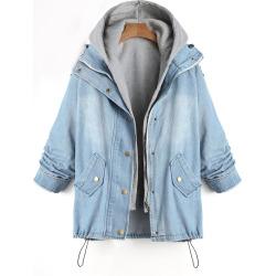 Denim Two Piece Plus Size Coat