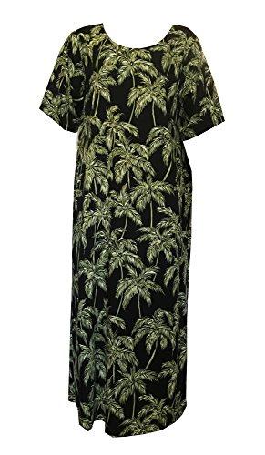 RJC Palm Trees Plus Size Womens Evening Dress BLACK 1X Plus