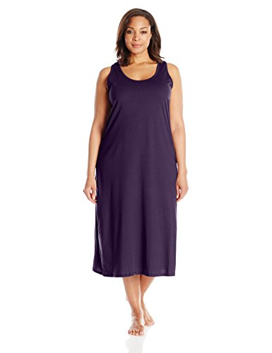 Jockey Women's Plus-Size Cotton Gown, Eggplant, 2X