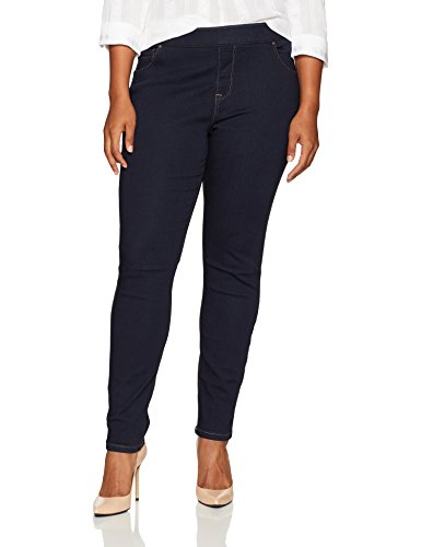 LEE Women's Plus Size Modern Series Midrise Dream Jean Harmony Legging, Rinse, 16W Medium