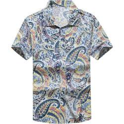 Print Short Sleeve Hawaiian Shirt