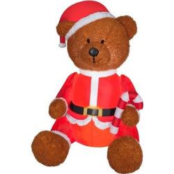 4.5ft Mixed Media Teddy Bear – National Tree Company, Red