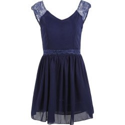 Backless Mini Chiffon A Line Dress