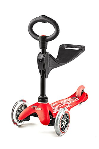 micro mini 3in1 deluxe kick scooter red - Micro Mini 3in1 Deluxe Kick Scooter (Red)