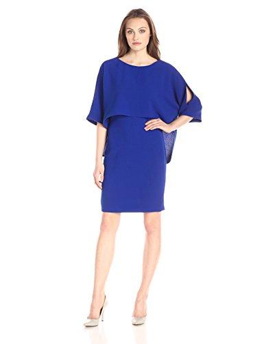 Adrianna Papell Women's Plus-Size Draped Blouson Sheath Dress, Iris, 20W