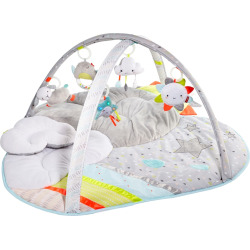 Skip Hop Silver Lining Cloud Activity Gym & Play Mat, Multicolor