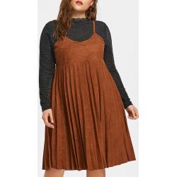 Plus Size Faux Twinset Dress