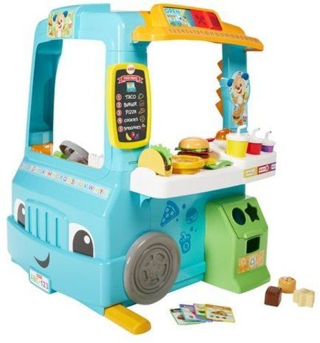 Fisher-Price Laugh & Learn Servin' Up Fun Food Truck (Deluxe Pack – Includes 22 Toys with Magical Cash Register)