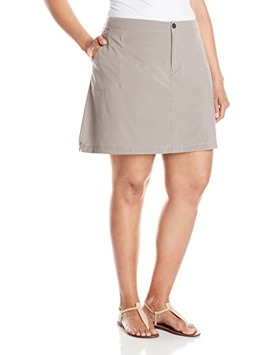 White Sierra West Loop Plus Size Trail Skort – Extended Sizes, Pale Taupe, 1X