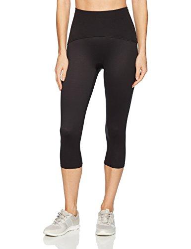 SPANX Women's Active Compression Knee Length Leggings Pants, black, XL