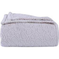 Better Living Plush Embossed Circles Blanket, White