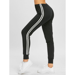 Double Striped Track Tapered Pants