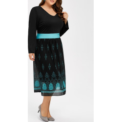 Plus Size Printed Dress