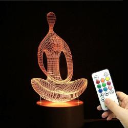 Yoga Meditation Shape Multicolor Remote Control Light