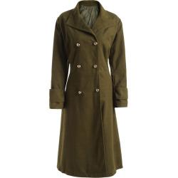Plus Size Wool Blend Longline Coat