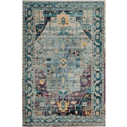3'X5′ Loomed Accent Rug Teal/Purple (Blue/Purple) Medallion – Safavieh