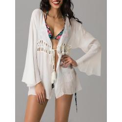 Crochet Collarless Wrap Cover-Up