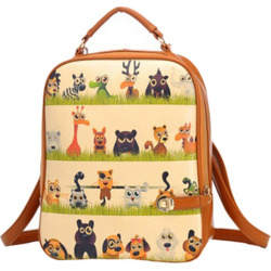 Women's Backpack Charming Chic Chromatic School Bag