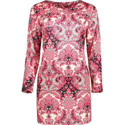 Paisley Printed Sheath Dress