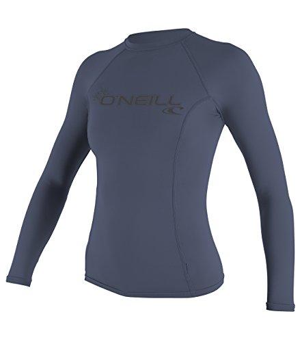 O'Neill Women's Basic Skins Upf 50+ Long Sleeve Rash Guard, Mist, X-Large
