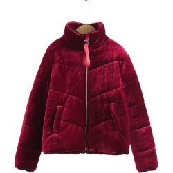 Women's Velvet Puffer Jacket