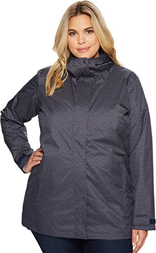 Columbia Women's Splash A Little II Plus Size Jacket, India Ink Geo Lights Print, 1X