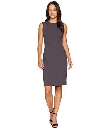Calvin Klein Women's Scuba Crepe Sleeveless Princess Seam Sheath Dress, Gunmetal, 4
