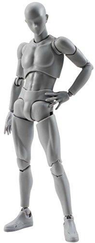 Bandai – Figurine S.H.Figuarts – Body Kun (male) DX Set Grey Color Version – 4549660040880