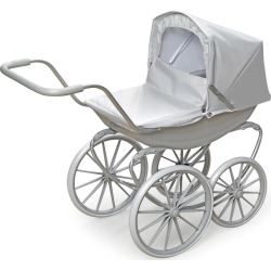 Badger Basket Gray London Doll Pram, Grey