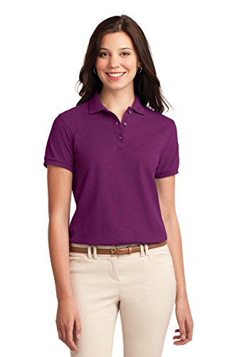 Port Authority Ladies Silk Touch Polo. L500 Deep Berry L