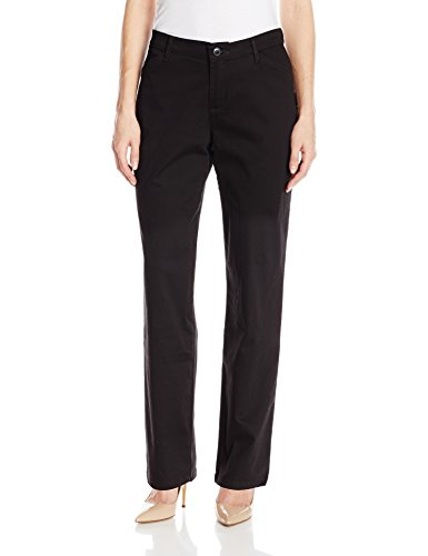 LEE Women's Relaxed Fit All Day Straight Leg Pant, Black, 16 Short