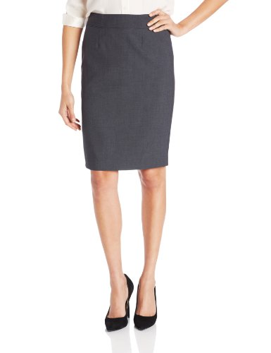 Calvin Klein Women's Straight Fit Suit Skirt, Charcoal, 8
